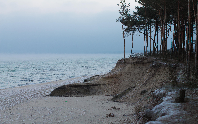 Балтийское мое Калининградская область зима