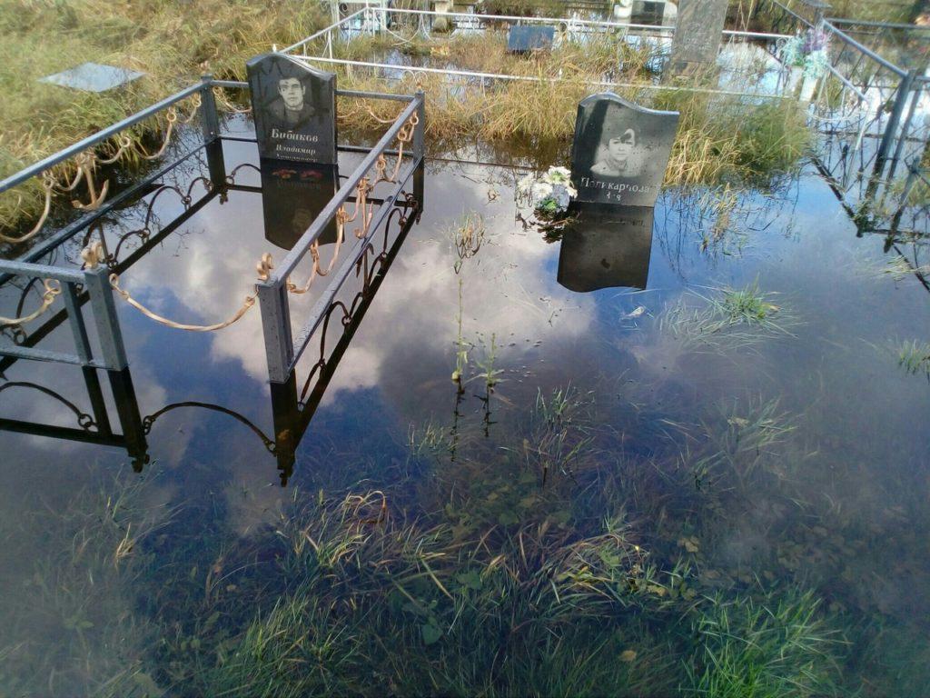 Балтийск затоплено кладбище