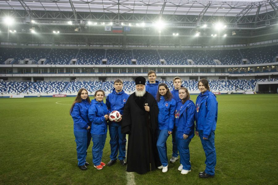 Патриарх Кирилл стадион Калининград