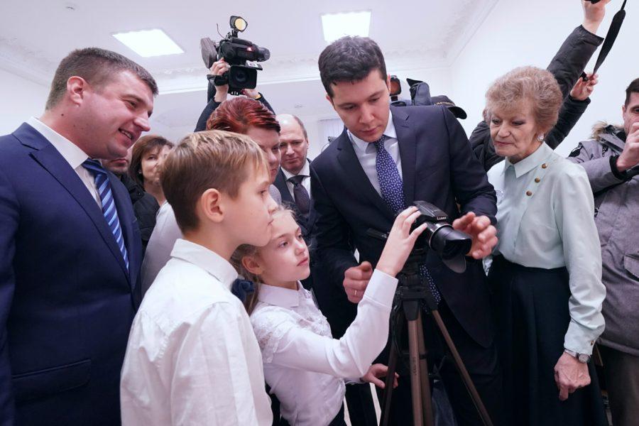 Алиханов на открытии ДЮЦ в Гусеве
