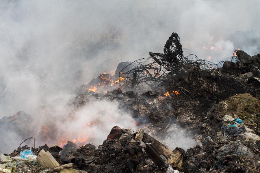Краснознаменск полигон пожар